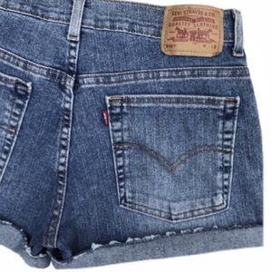Levi's 515 High Waisted Denim Shorts